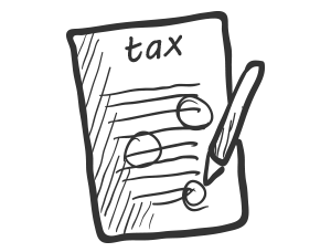 illustration of a tax form